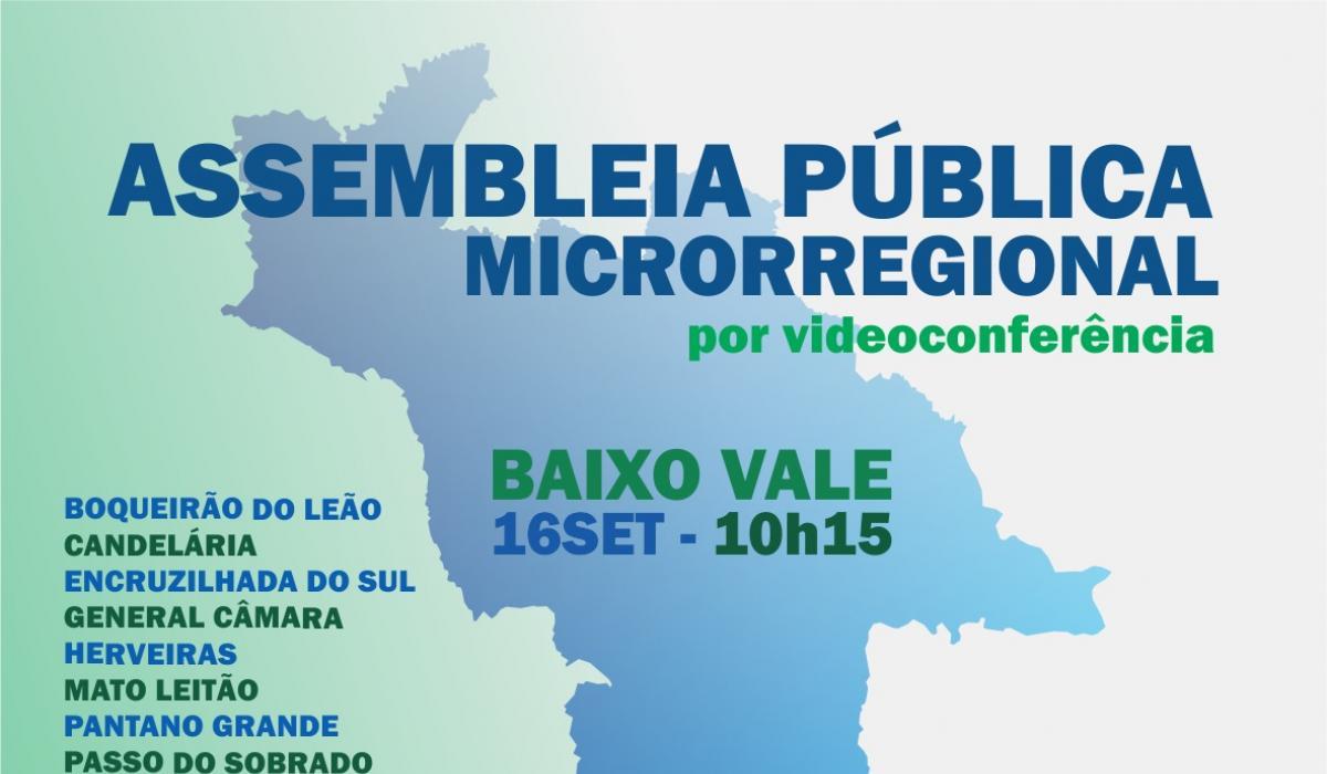 Corede/VRP realiza assembleias microrregionais da Consulta Popular